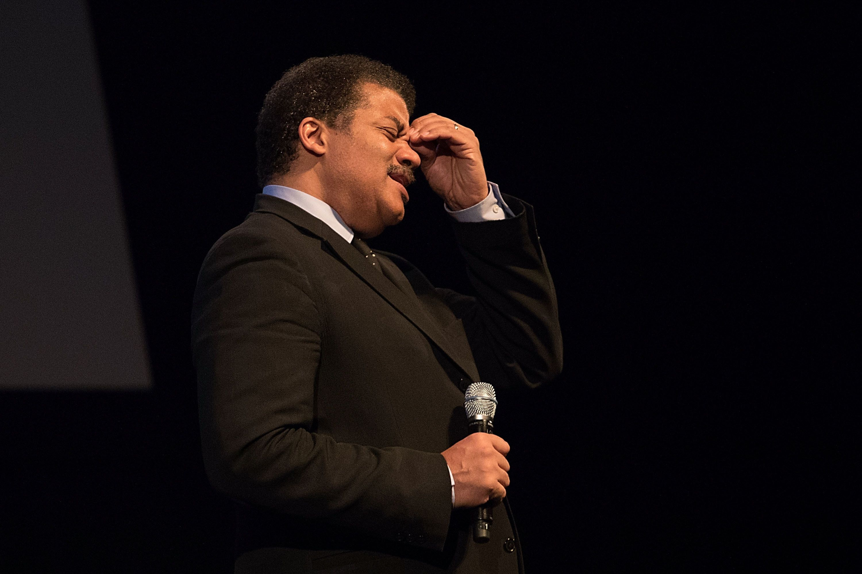 AUSTIN, TX - JANUARY 18:  Astrophysicist Neil deGrasse Tyson speaks onstage at the Long Center on January 18, 2017 in Austin, Texas.  (Photo by Rick Kern/WireImage)