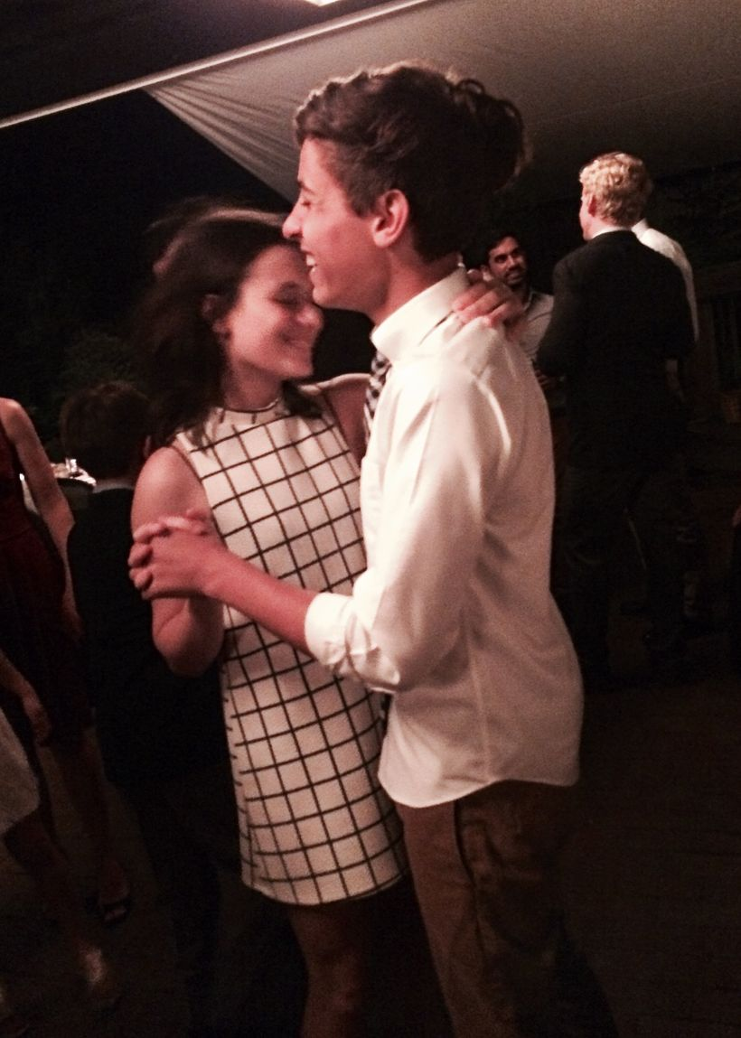 My two oldest, sister and brother, dancing at a cousin's rehearsal dinner