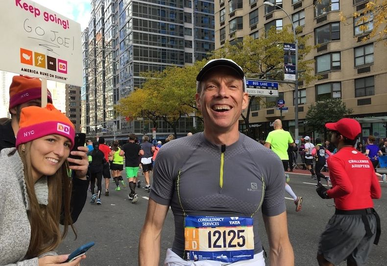 Joe Gagnon at the New York Marathon.