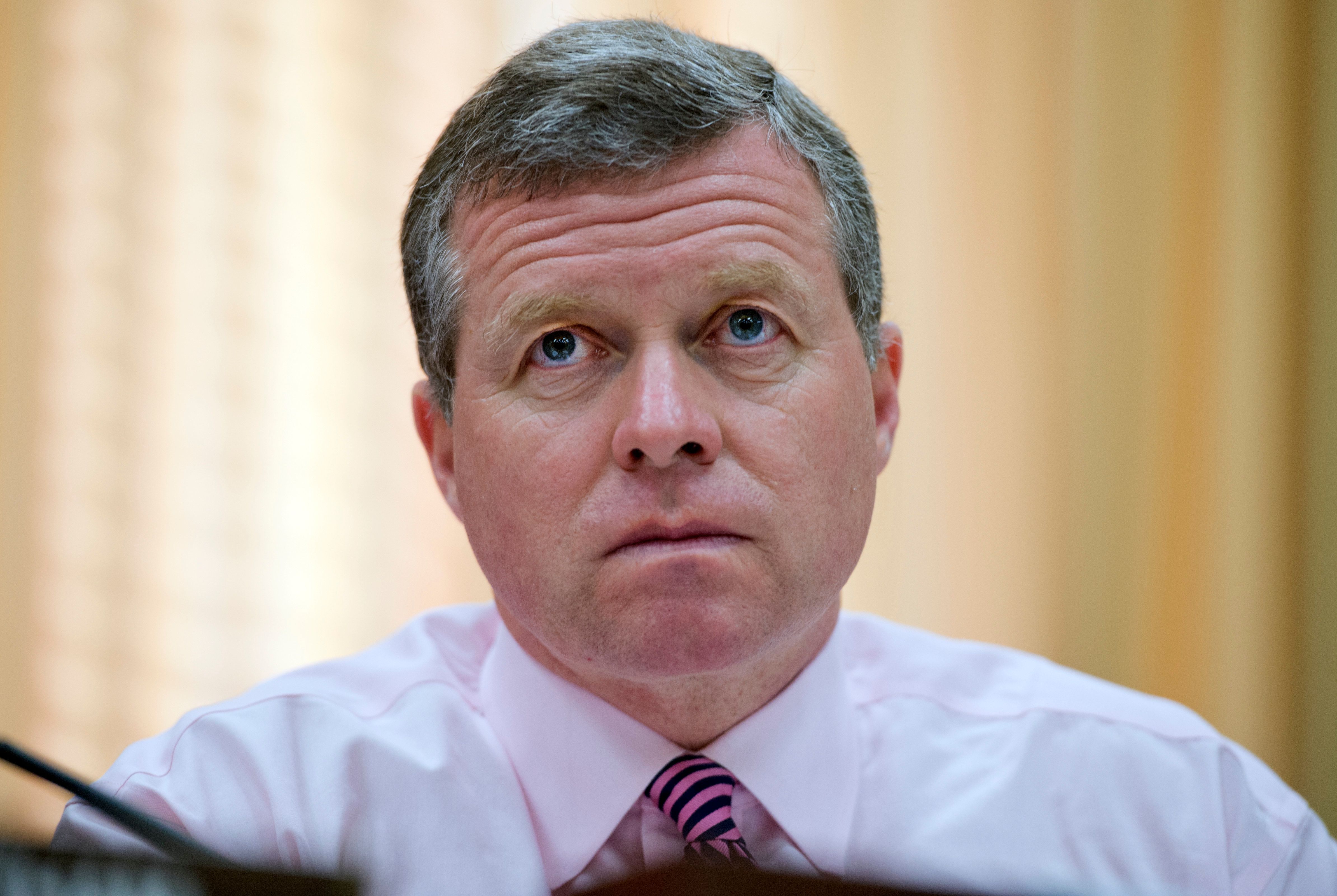 UNITED STATES - MARCH 13:  Rep. Charlie Dent, R-Pa., listens to FEMA Administrator Craig Fugate testify before a Homeland Security Subcommittee hearing in Rayburn entitled 'FEMA Hurricane Sandy Funding Oversight.' (Photo By Tom Williams/CQ Roll Call)