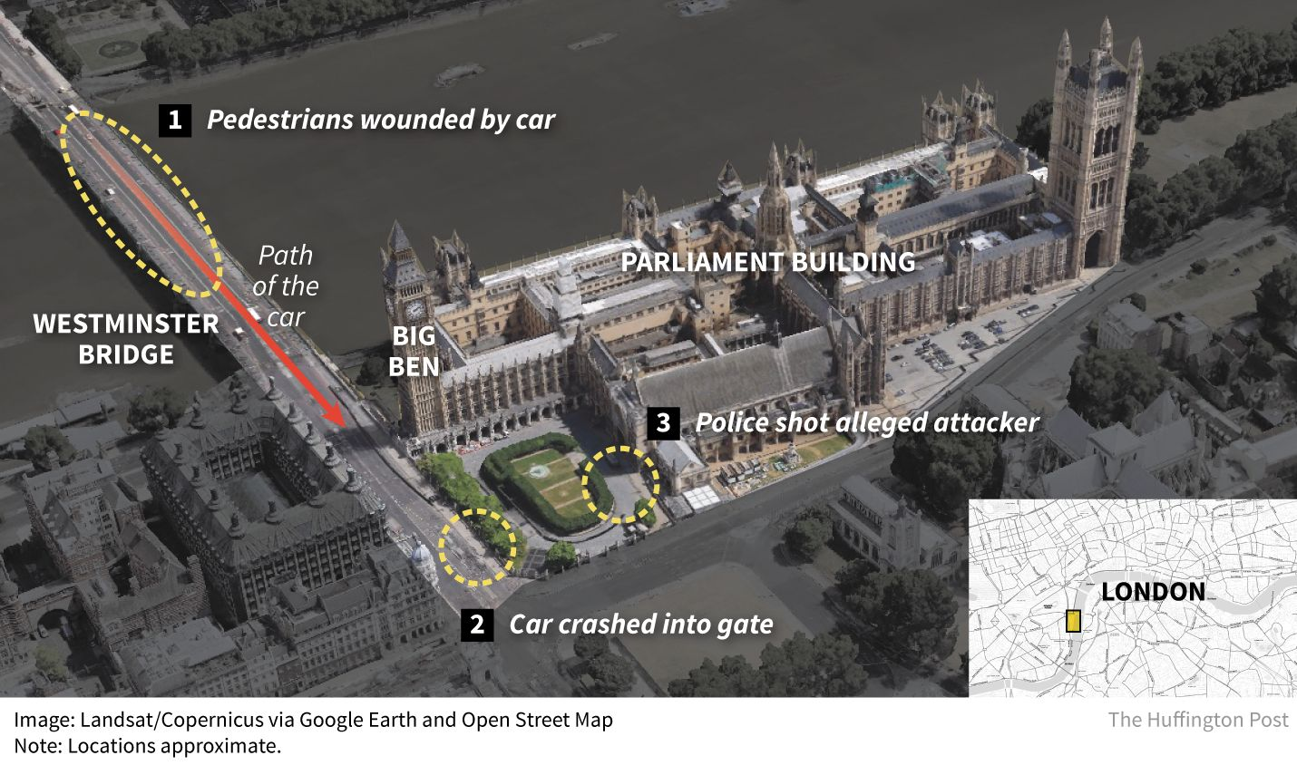 Five people were killed in an attack on Parliament in London on