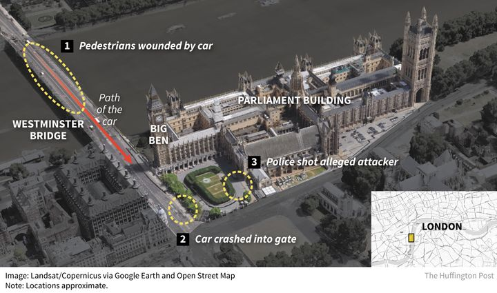 Five people were killed in an attack on Parliament in London on Wednesday.