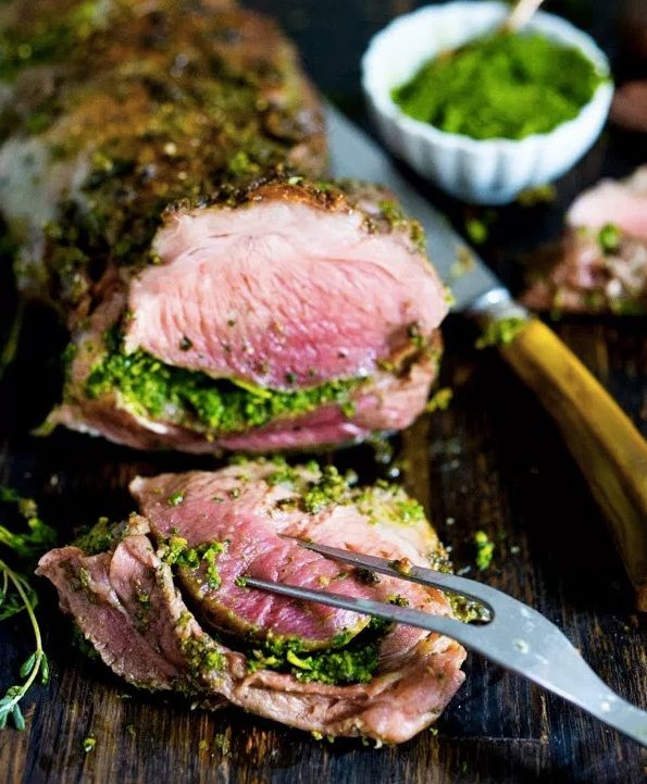 "<strong>Get the <a href=""http://www.feastingathome.com/herb-crusted-leg-of-lamb-with-mint-gremolata/"" target=""_blank"">Herb Cr"