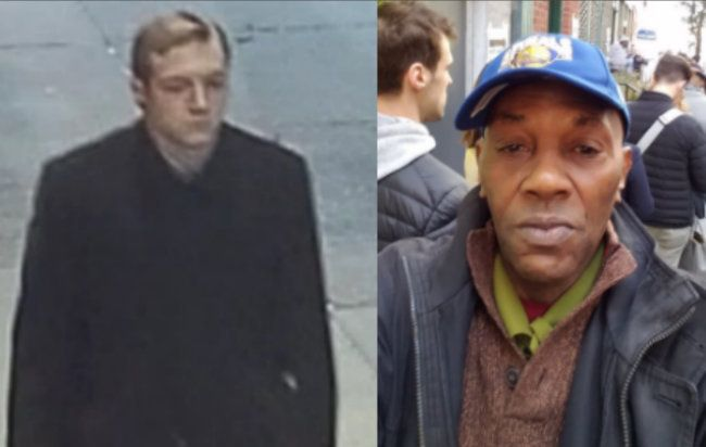 James Harris Jackson (left) is accused of fatally stabbing Timothy Caughman (right) in New York City on Monday.