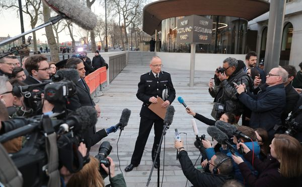 Assistant Commissioner Mark Rowley of the Metropolitan Police makes a statement outside New Scotland Yard on March 22, 2017.