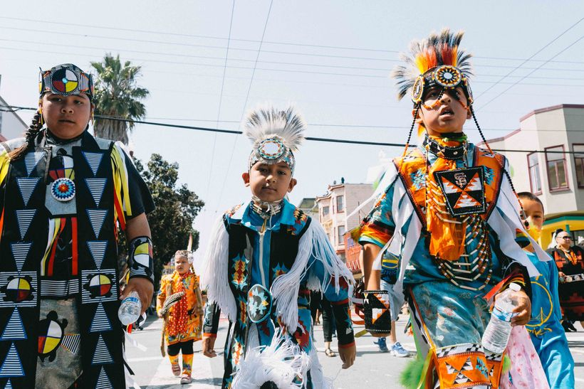 A cultural awakening. A multitude of dancers representing the multi-cultured Mission District of San Francisco