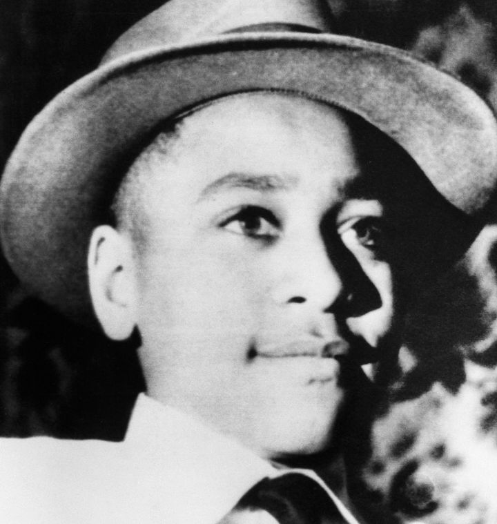 Young Emmett Till wears a hat. Chicago native Emmett Till was brutally murdered in Mississippi after flirting with a white wo