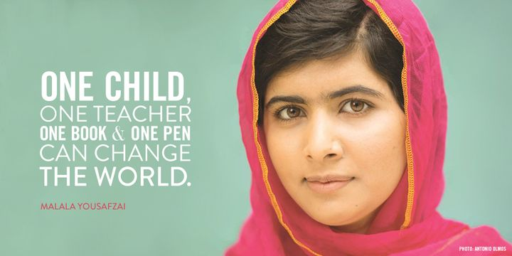 Malala Yousafzai, a Pakistani activist for female education and the youngest-ever Nobel Prize laureate.