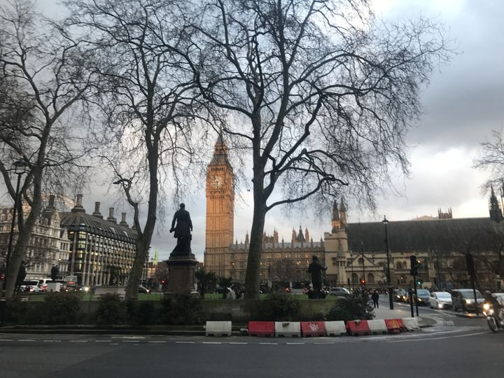 Parliament Square and Big Ben. Taken on Monday 20 March 2017 by your correspondent.