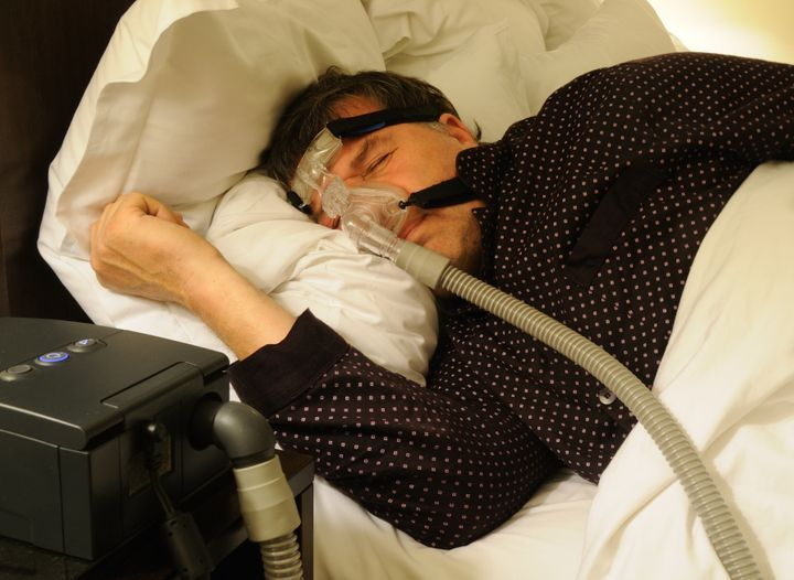 Currently the mainstay of treatment for obstructive sleep apnea is sleeping with a CPAP machine, like this one, that keeps air flowing consistently through the nose and throat during sleep.