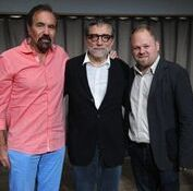 From left Jorge Perez and Jaume Plensa and friend