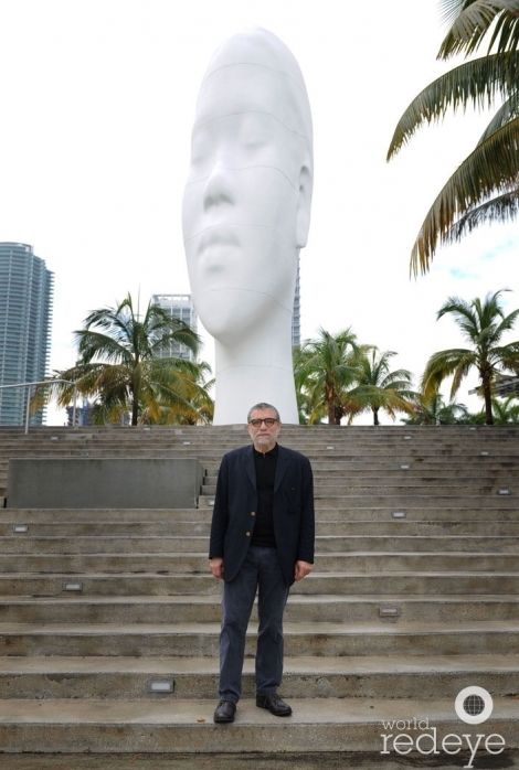 Artist Jaume Plensa and Awilda