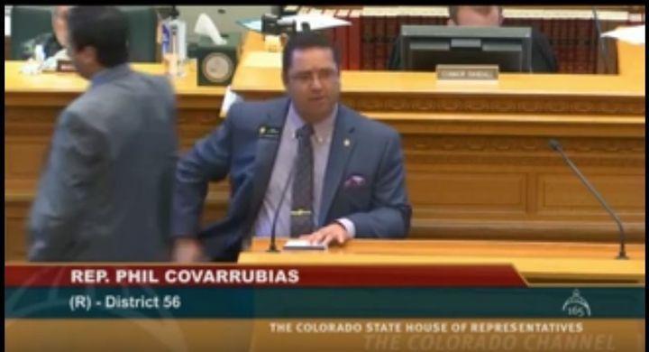 Republican Rep. Phil Covarrubias attempting to justify incarceration of Japanese Americans while explaining his opposition to