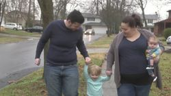 Husband Carries Baby For Wife After She Couldn't Fall