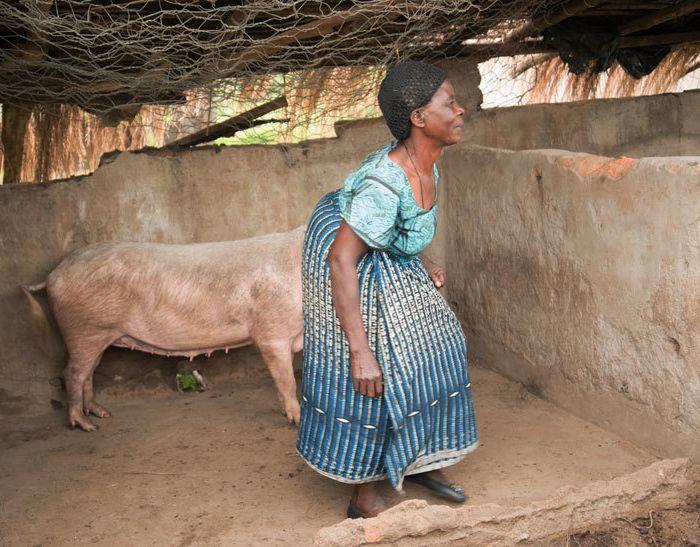 <p>Nellie Mohanga on her farm.</p>