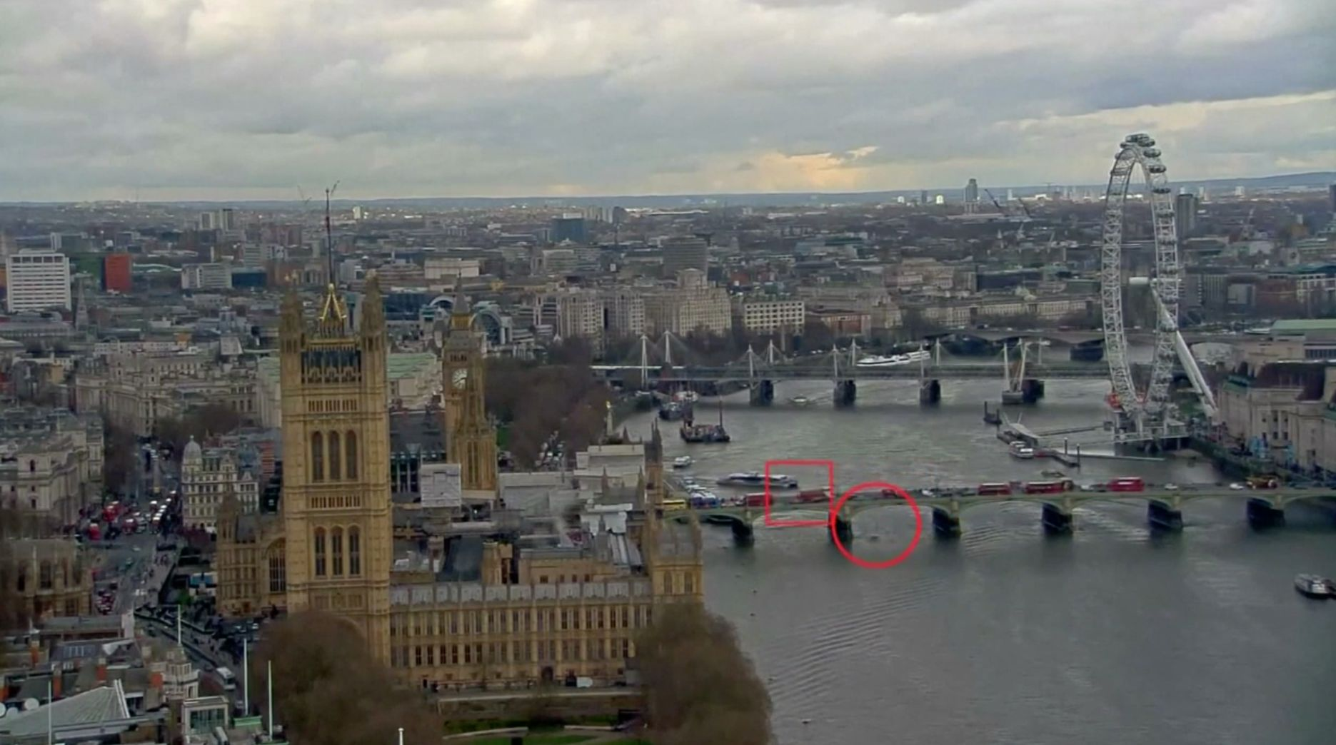 Terrifying Moment Woman Falls From Westminster Bridge Into Thames Caught On