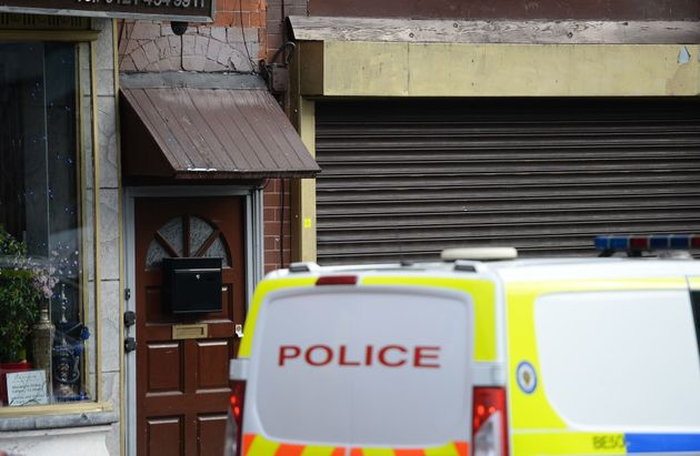 Police activity outside an address in Hagley Road, Birmingham, on