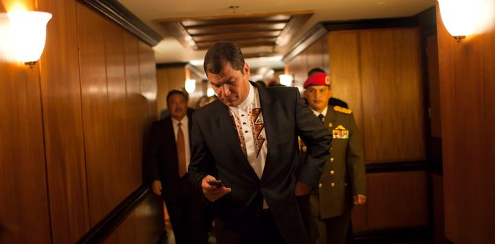 Ecuador's Rafeal Correa is one of the wold's top politician-tweeters.