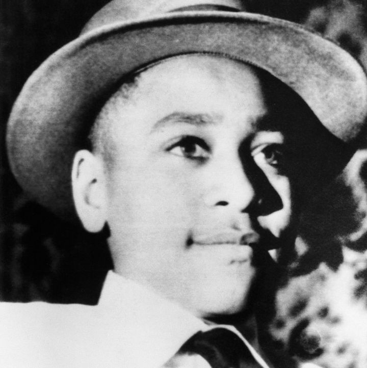 A photo of Chicago native Emmett Till.