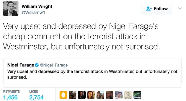 7 Reasons Why Nigel Farage's Response To The London Attack Is Verging On