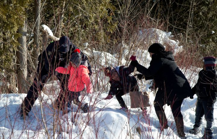 Canadian police intercept a Sudanese family at the U.S.-Canada border. Sudan is one of the countries targeted in U.