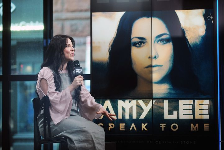 "Singer Amy Lee attends Build Series to discuss her new single ""Speak to Me"" at Build Studio on March 20, 2017, in New York."