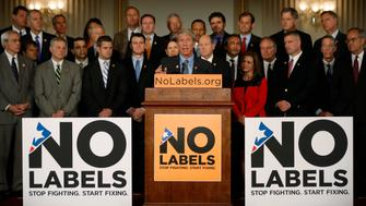 U.S. Representative Kurt Schrader (D-OR) delivers remarks on behalf of No Labels, a group of Republican and Democrat Congressmen calling for a solution to end the U.S. Government shut down on Capitol Hill in Washington, October 10, 2013. U.S. House of Representatives Republicans are considering signing on to a short-term increase in the government's borrowing authority to buy time for negotiations on broader policy measures, according to a Republican leadership aide. REUTERS/Jason Reed (UNITED STATES - Tags: POLITICS BUSINESS)
