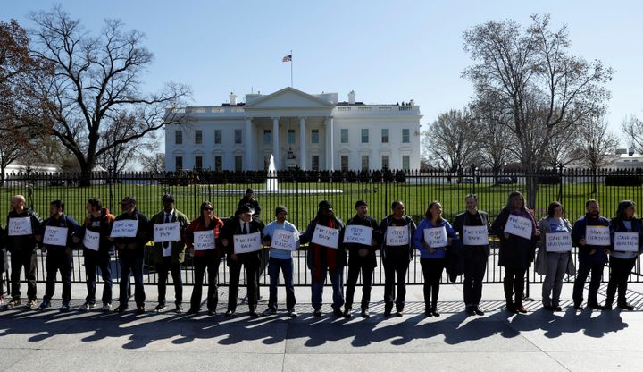 Twenty-four activists demonstrate against Obamacare repeal outside the White House. Police began arresting them after th