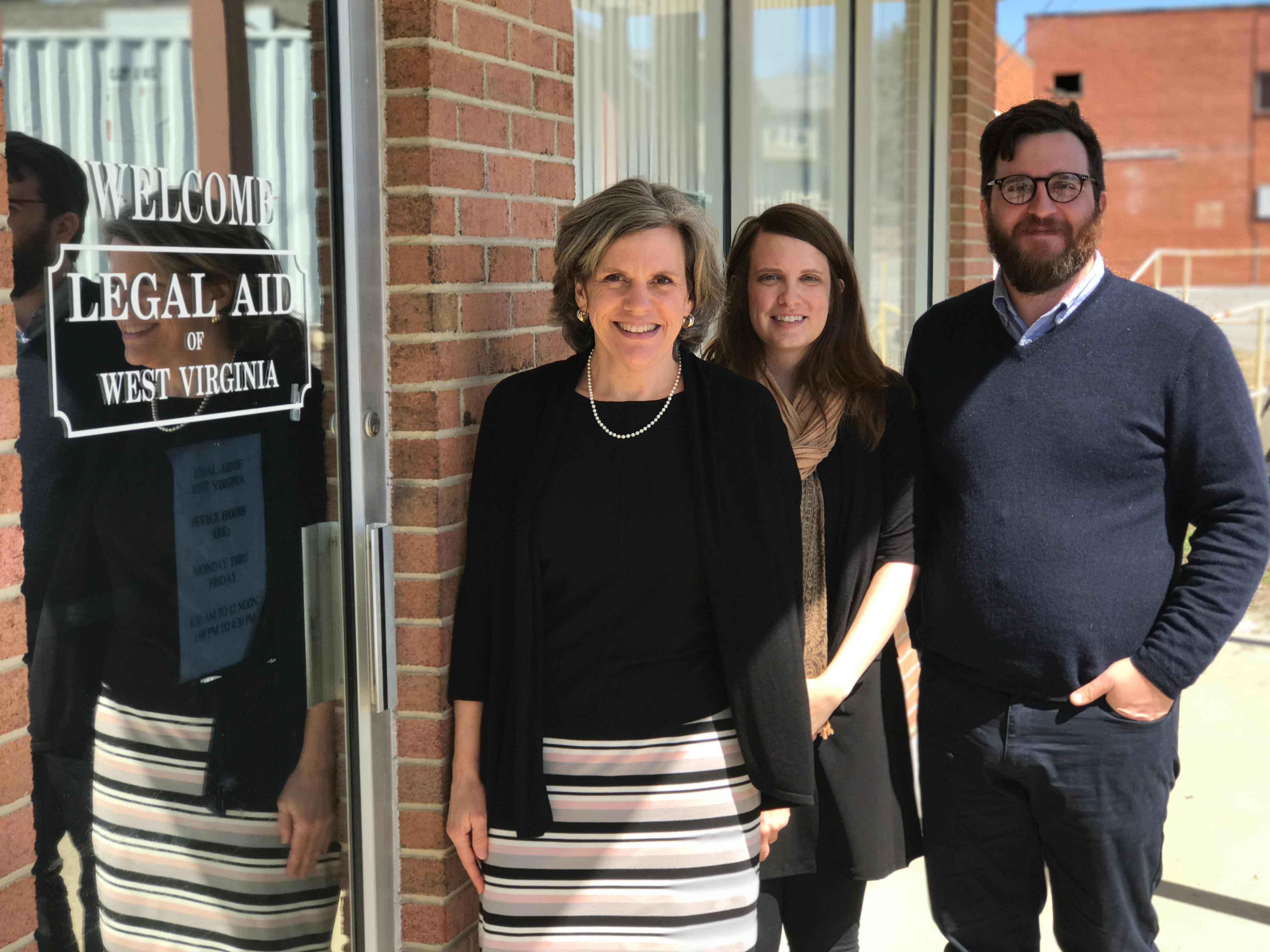 Kelly Beck, Erin Clark and Matthew Jividen staff Legal Aid of West Virginia's office in Martinsburg.