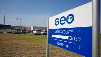 KARNES CITY, TX - JULY 31:  The Karnes County Residential Center is viewed on July 31, 2014 in Karnes City, Texas.  The civil facility is being used by U.S. Immigration and Customs Enforcement (ICE) to accomodate the increase of adults with children who have been apprehended illegally crossing the Southwest border. (Photo by Drew Anthony Smith/Getty Images)