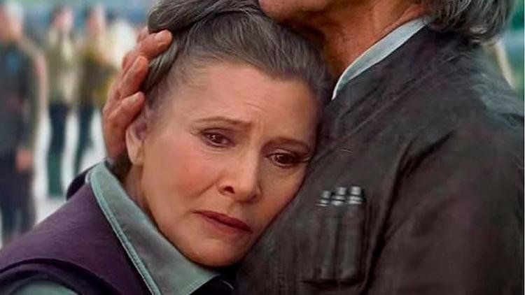 Carrie Fisher as General Leia Organa from Star Wars: The Force Awakens