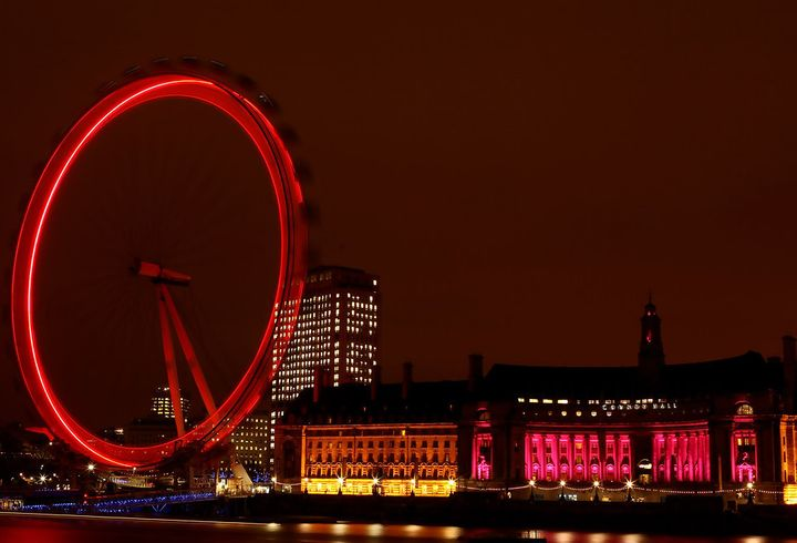 London turns red for World AIDS day.