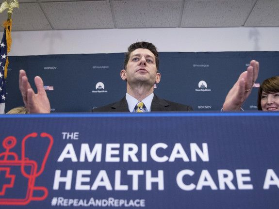 House Speaker Paul Ryan at a news conference following a GOP party conference at the Capitol on Wednesday in Washington.