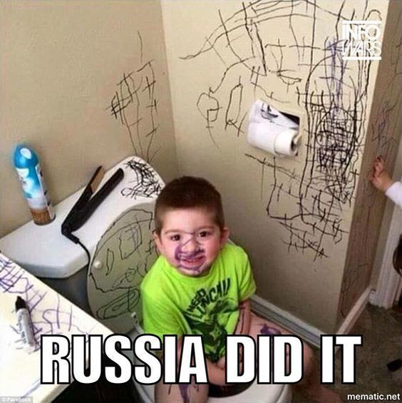 Russia Did It Meme