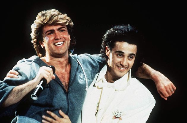 George Michael and Andrew Ridgeley in their Wham!