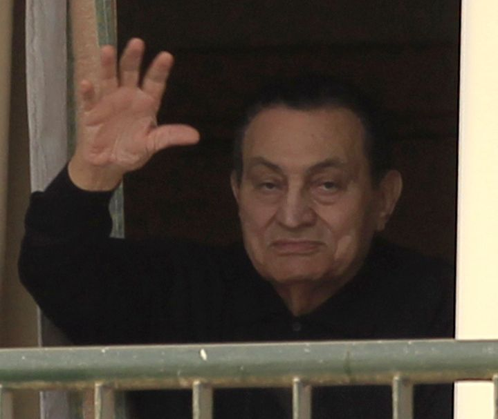 Ousted Egyptian president Hosni Mubarak was freed on Friday after six years in detention.