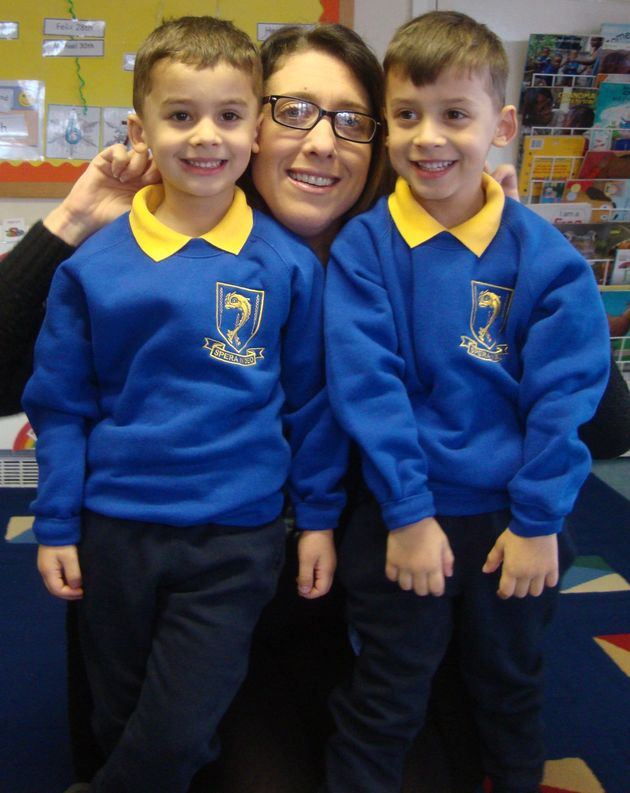 Roman and Samuel Sharma, with their mother