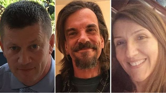 Masood's confirmed victims (left to right): PC Keith Palmer, Kurt Cochran, and Aysha Frade. Fourth...