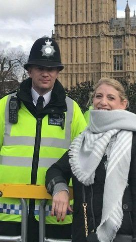 Staci Martin poses for what is believed to be the last picture of PC Keith Palmer