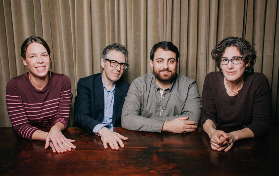 Julie Snyder, Ira Glass, Brian Reed and Sarah Koenig.