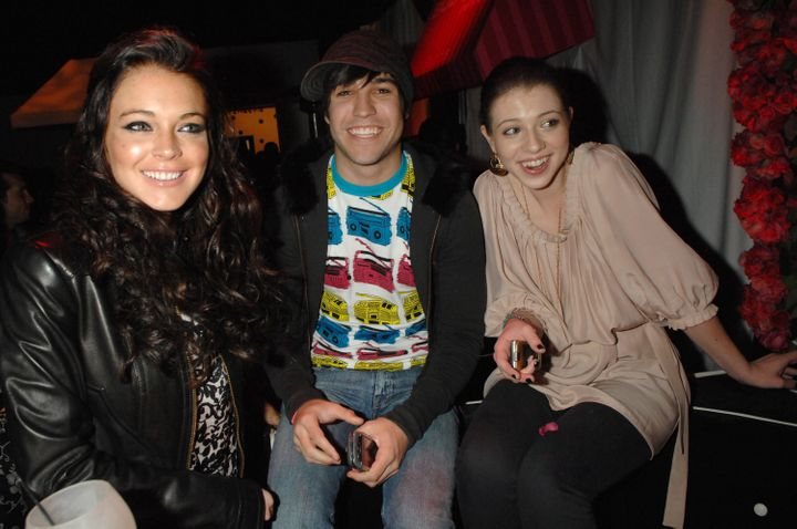 Lindsay Lohan, Pete Wentz and Michelle Trachtenberg and the launch party for T-Mobile's limited edition Sidekick in Beverly H