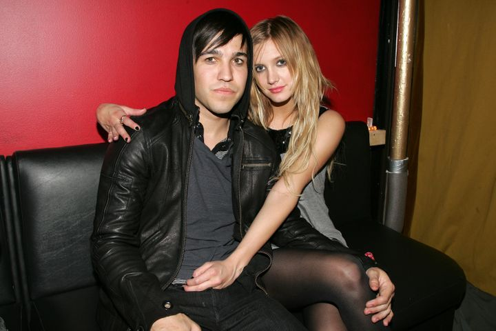 Pete Wentz and Ashlee Simpson attend the grand opening of Angels & Kings on April 30, 2007, in New York City.