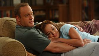 LOS ANGELES - AUGUST 8:  'King Pong' - Doug 's (pictured, Kevin James) manhood is put to the test when he keeps losing in ping-pong to both Carrie (pictured, Leah Remini) and Arthur, on The King of Queens, scheduled to air on the CBS Television Network. (Photo by RON P. JAFFE/CBS via Getty Images)
