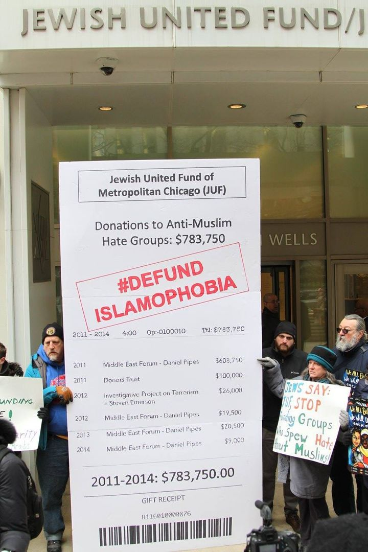 JVP-Chicago press conference releasing its #DEFUND ISLAMOPHOBIA report