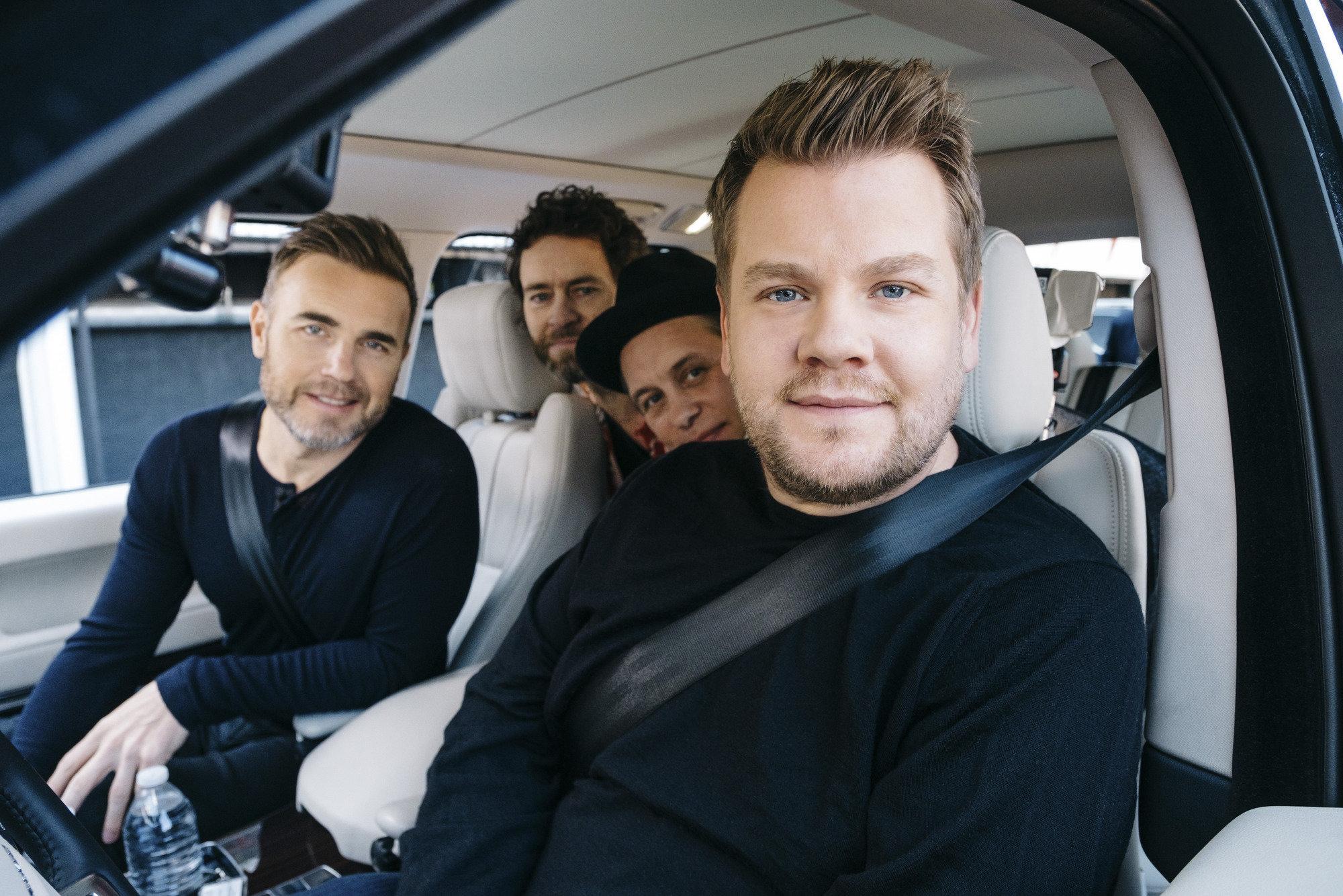 Watch James Corden In His Element During Take That's 'Carpool Karaoke'