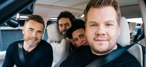 Watch James Corden In His Element During Take That's 'Carpool Karaoke' Special