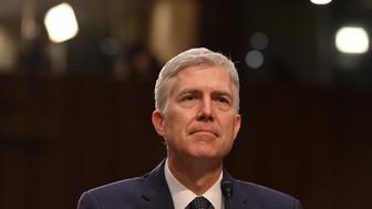 WASHINGTON, DC - MARCH 22: U.S. Supreme Court Associate Justice nominee Neil Gorsuch testifies during the third day of his confirmation hearing by the Senate Judiciary Committee at the Hart Senate Office Building on March 22, 2017 in Washington, D.C. (Photo by Ricky Carioti/The Washington Post via Getty Images)
