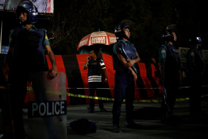 A suicide bomber attacked an areanear the Shahjalal International Airport in Dhaka on March 24, the day before two bomb
