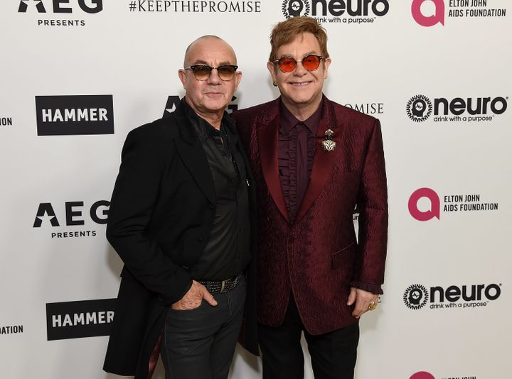 Bernie Taupin and Sir Elton John