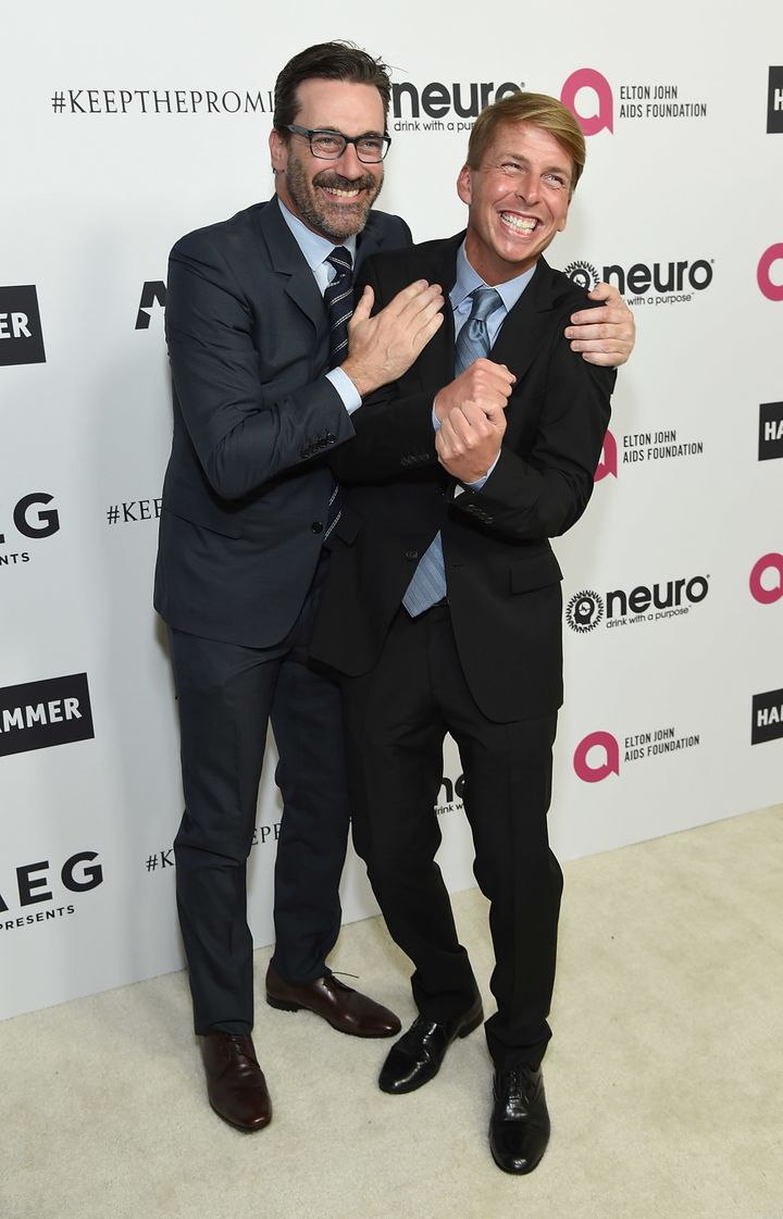 Jon Hamm and Jack McBrayer